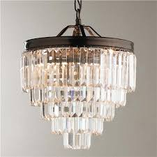 creative of modern glass chandelier modern faceted glass layered mini chandelier shades of light