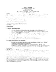 Sample Computer Technician Resume To Sample Computer Skills For