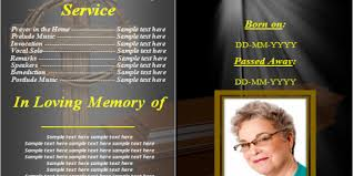 Funeral Service Templates Word Interesting Obituary Template 48 Free Blank Obituary Templates Word Excel PDF