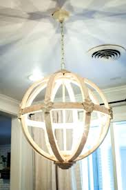 distressed white wooden chandelier wood delier farmhouse crystal orb plans