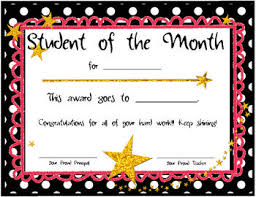 Star Student Certificates Student Of The Month Certificates Student Of The Month