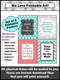 Math Classroom Decor Math Teacher Appreciation Classroom Signs Classroom Posters Middle School High School Instant Download You Print Them