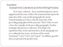 ms greene transitions introduction coherence and clarity are a  example excerpt from literature and the writing process to be more coherent these transitional