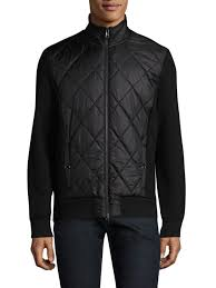 michael kors thermal quilted jacket black men puffers