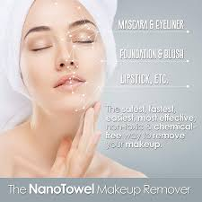 amazon nano towel makeup remover face wash cloth remove cosmetics fast and chemical free wipes away dirt and oil like an eraser