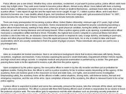 Why To Become A Police Officer 42 I Want To Become A Police Officer Essay Essay Police Officer