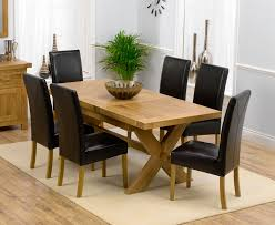 extending dining table and 6 chairs oak. dining table and chairs solid oak extending size 160 200cm \u0026 6 monaco l