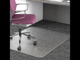 don t plastic floor mats for under your desk chair