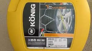 Konig T2 Magic Snow Chains Size Chart Konig T2 Magic Snow Chains 065 New Snow Sports