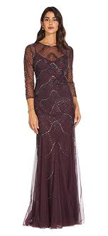Unique one shoulder dresses of different colors ideas Elegant If You Desire For Something With Bit More Sparkle The Scoop Back Sequin Gown Allows You To Complement Your Dates Attire Without Overpowering It Adrianna Papell What To Wear To Gala Dresses Shoes And Accessories