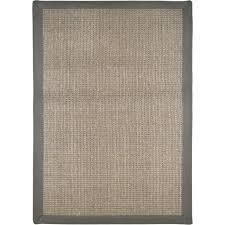 home dynamix sisal border gray area rug reviews wayfair