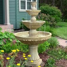 classic 3 tier designer outdoor electric garden water fountain