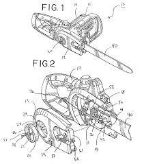 chainsaw blade drawing. patent drawing chainsaw blade
