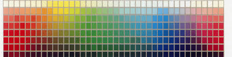Munsell Colour Chart All Rectangles On The Chart Are