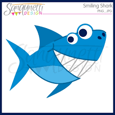 smiling shark clipart. Delighful Clipart Smiling Shark Clipart With A