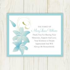 Personalized Sympathy Thank You Cards Card Design Ideas Blue Lining Frame Sky Color Thank You Cards For