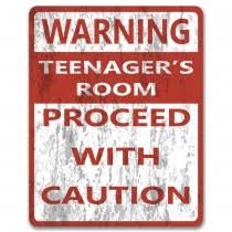 bedroom door signs for teenagers. Plain Bedroom Warning Teenagers Room Proceed With Caution  Metal Bedroom Door Or Wall  Sign  Intended Signs For O