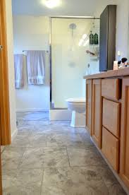 Vinyl Bathroom Floors Easy Update To Bathroom Floors Simply Darrling