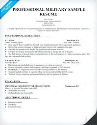 military resume examples infantry professional sample