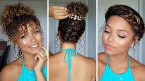 Hairstyle Summer Curly Hair Male Ponytail Over Frizzy With Bangs
