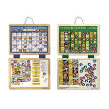 My Magnetic Responsibility Chart Melissa Doug Kids Magnetic Calendar And Responsibility Chart Set With 120 Magnets To Track Schedules Tasks And Behaviors