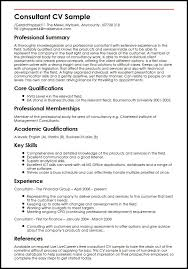 Consultant Resume Example Amazing Cv Consulting Funfpandroidco