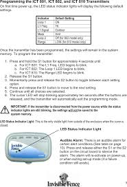 Red Blinking Light On Invisible Fence Collar 050261 Pet Containment Transmitte User Manual Invisible