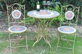 tile bistro table and chairs classic outdoor mosaic set wholesale mosaic bistro table i86
