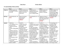 unit plan of mice and men complete daily lesson plan chart by  unit plan of mice and men complete daily lesson plan chart