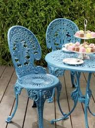 green wrought iron patio furniture. cast iron garden furniture painted a pretty shade of blue green wrought patio r