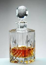 glass whiskey decanter personalised crystal set etched globe