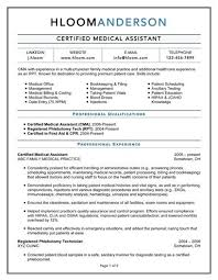 Medical Assistant Resume Template Amazing Resume Medical Assistant Examples sarahepps