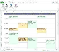 online schedule planner free schedule maker online template
