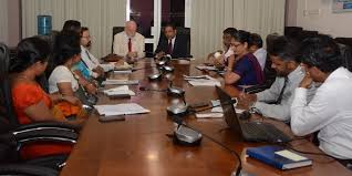 round table discussion of he the ambassador peter thomson united nations special envoy for the ocean with senior officials of the ministry of mahaweli