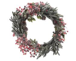 Christmas Decoration Christmas Garlands Wreaths Christmas Wreath Berries And Snow