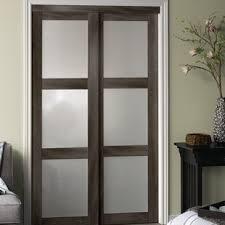 sliding closet doors for bedrooms. Baldarassario 3 Lite 2 Panel MDF Sliding Interior Door Closet Doors For Bedrooms