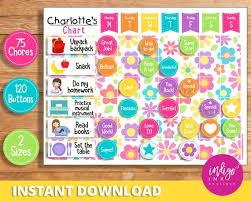 Download Reward Chart Child Reward Chart Instant Download Behavior Chart For
