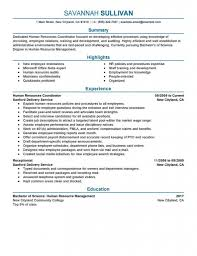 Human Resources Assistant Resume Examples Human Resources Resume Example And Writing Tips Manager