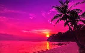 Pink Beach Sunset HD Wallpapers - Top ...