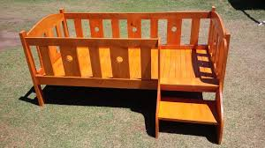 skid furniture ideas. wooden pallet baby bed or crib with stairs skid furniture ideas