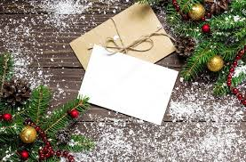 Blank Christmas Background Christmas Background With Blank White Greeting Card Stock Photo