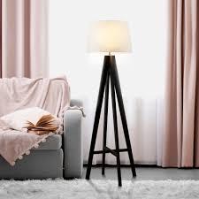 Searchlight Lighting 3540br Tripod Single Light Dark Wood Floor Lamp