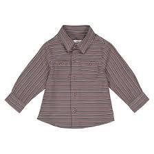 <b>Рубашка</b> в <b>полоску</b> с длинными рукавами 1 мес - <b>La Redoute</b>