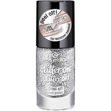 Essence Lak Na Nehty Odlupovací Stříbrný Glitter On Glitter Peel Off 01 Put A Ring On It 8ml