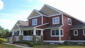 Red House With White Trim Cedar Shakes Craftsman Education - House exterior trim