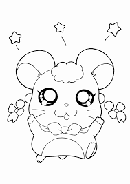 Hamster Kleurplaat Luxe Cute Hamtaro Coloring Pages Kleurplaatsite