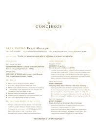 Concierge Resume 2 Resume Templates Concierge Suiteblounge Com