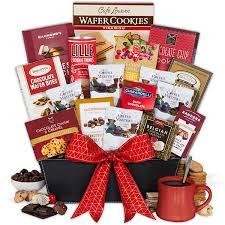coffee chocolates gift basket premium