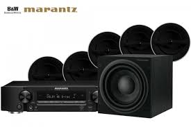 bowers wilkins ccm382 in ceiling speaker and marantz nr1606 receiver surround sound system
