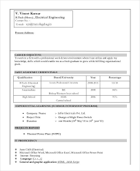 Sample Resumes For Freshers Engineers 12 Fresher Engineer Resume Templates Pdf Doc Free